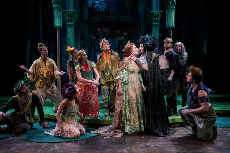Nick Steen as Oberon & Jillian Kates as Titania with attendants Alex Syiek, Mack Shirilla, Mackenzie Wright, Olivia Kaufman, Jodi Dominick, Tom Ford, Andrew Kotzen, M.A. Taylor, Mickey P