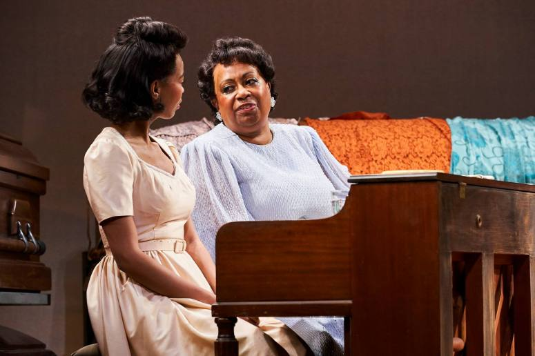 Chaz Hodges as Marie Knight & Miche Braden as Sister Rosetta Tharpe Credit Roger Mastroianni