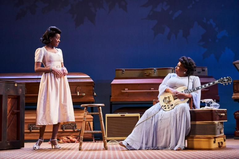 From left Chaz Hodges as Marie Knight & Miche Braden as Sister Rosetta Tharpe - Photo Credit Roger Mastroianni