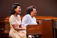 From left to right Chaz Hodges as Marie Knight& Miche Braden as Sister Rosetta Tharpe - Photo Credit Roger Mastroianni