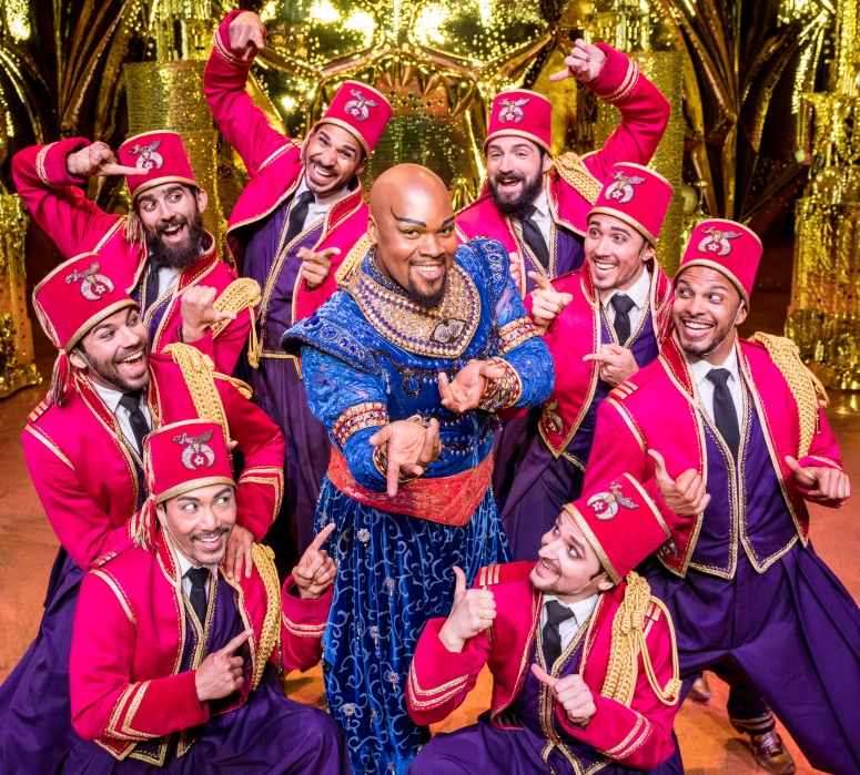 Friend Like Me - Michael James Scott (Genie) & Ensemble. Aladdin North American Tour. Photo by Deen van Meer.