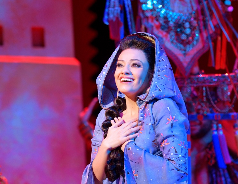 Isabelle McCalla (Jasmine). Aladdin North American Tour. Photo by Deen van Meer.