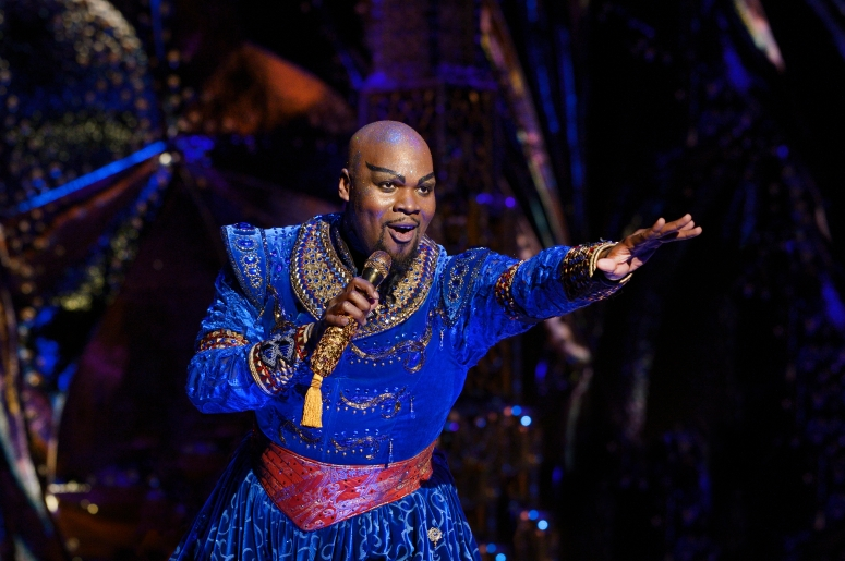 Michael James Scott (Genie). Aladdin North American Tour. Photo by Deen van Meer.