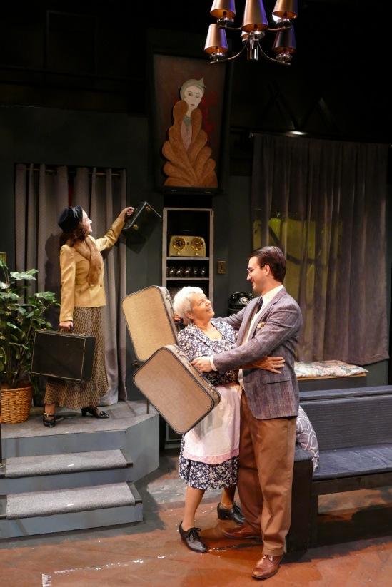 Caitlin Halstead as Susan Hollister, Nancy Allen as Mrs. Lottie Molloy and Simon Sedmak as Barry Draper