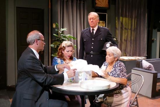 Terry Smith as James Crandall, Debbie Jenkins as Mavis Templeton Hollister, Lou Will as Abel Howard and Nancy Allen as Mrs. Lottie Molloy