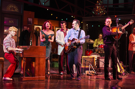 From left - Gabe Aronson, Kristen Beth Williams, Sean Michael Buckley, James Barry, Sky Seals, Dave Sonneborn and Eric Scott Anthony