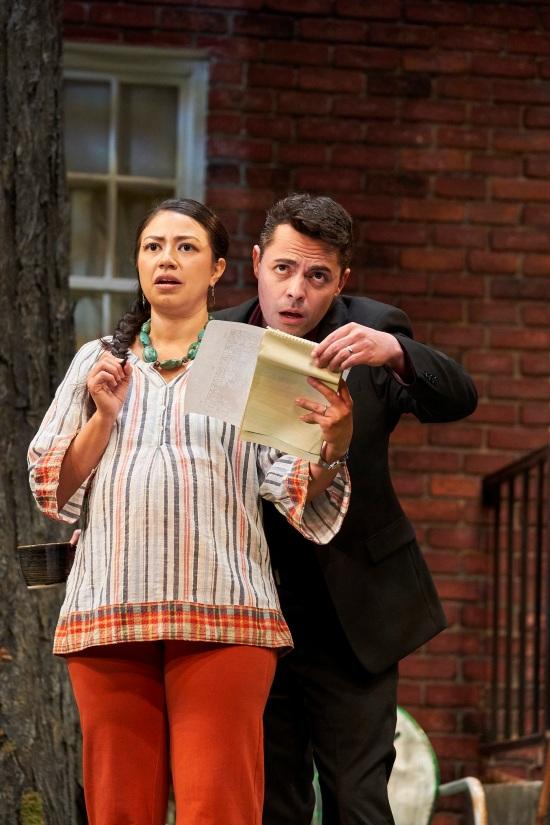 Natalie Camunas (Tania Del Valle), Grayson DeJesus (Pablo Del Valle). Photo Credit Roger Mastroianni.