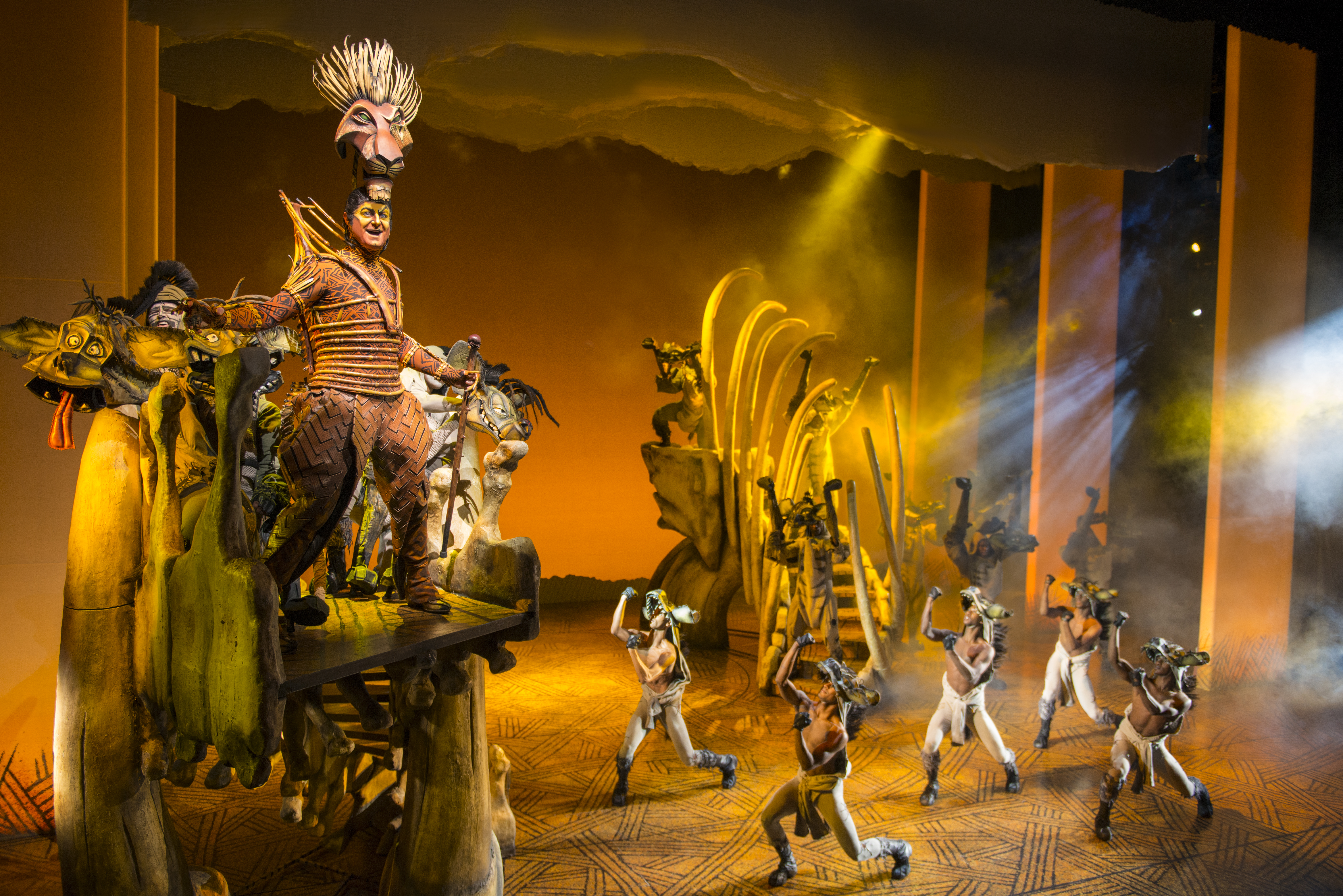 Spencer Plachy as Scar in THE LION KING North American Tour. Photo Credit Deen van Meer